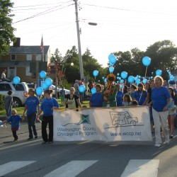 Hundreds of children and families marched in the Friday night Children's Parade at the 39th annual Wild Blueberry Festival at Machias.