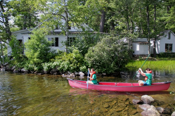 Ophir and Oliver, two Seeds of Peace campers, went canoeing Friday afternoon.