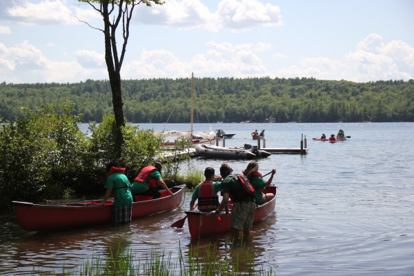 Campers in their second year at Seeds of Peace learn went kayaking Friday afternoon. They come from Israel, Palestine, Jordan, Egypt, Pakistan, Afghanistan, India and the United States.
