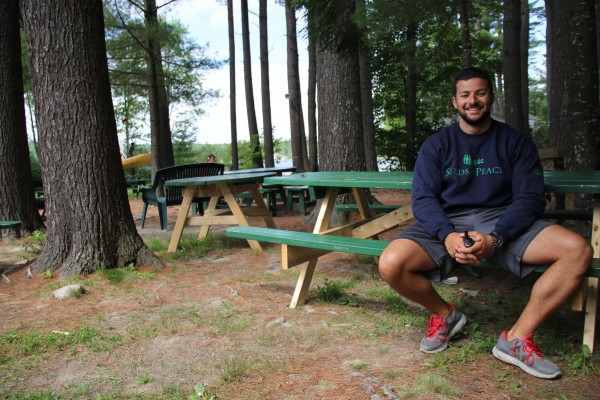 Eias Kahatib, who is Palestinian, is a former camper and current counselor at Seeds of Peace.