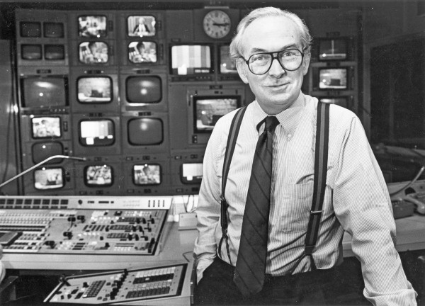 Former CBS News president Ed Joyce is pictured in a control room in New York City on Dec. 14, 1983. Joyce died on Saturday, Aug. 2, 2014, at his home in Redding, Conn. He was 81.