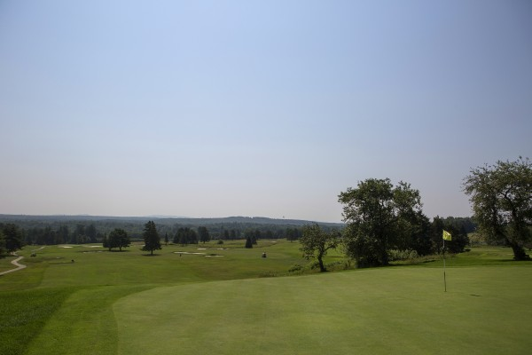 Penobscot Valley Country Club hole number nine is seen at the Penobscot Valley Country Club in Orono.