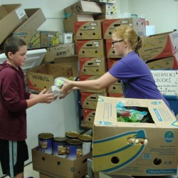 Student-led fundraiser produces $8,000 worth of food for needy families