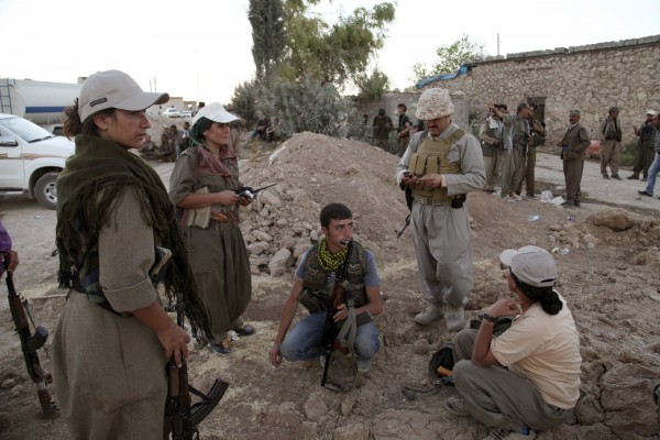 Kurdistan Workers Party fighters participate in an intensive security deployment against Islamic State militants on the front line in Makhmur in this August 2014 file photo.