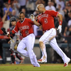 Angels split series with 11-0 win over Red Sox