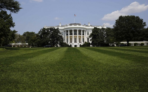 The South Lawn and the White House is pictured in Washington August 7, 2014.