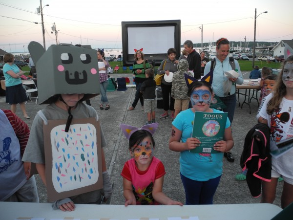 Zachary Soule (left), 11, made the costume he wore to the Internet Cat Video Film Festival on Saturday at Harbor Park in Rockland. He was Nyan, an animated cat with a body that looks like a Pop-Tart and that has had more than 112 million views on YouTube.