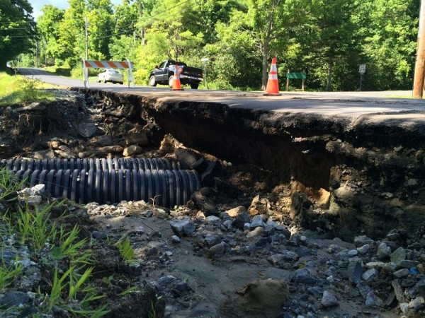 The Aug. 14 aftermath of Beech Hill Road Road in Freeport after an Aug. 13 storm.