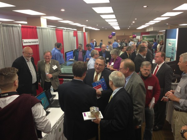 Gov. Paul LePage stopped by the Maine Technology Institute's TechWalk event in November 2013.
