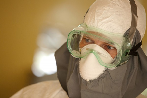 Dr. Kent Brantly wears protective gear at the case management center on the campus of ELWA Hospital in Monrovia, Liberia in this undated handout photograph courtesy of Samaritan's Purse. Brantly contracted Ebola.