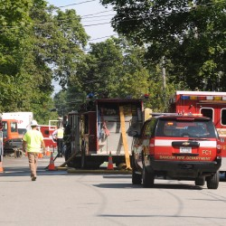 Gas line rupture prompts evacuation in Brewer
