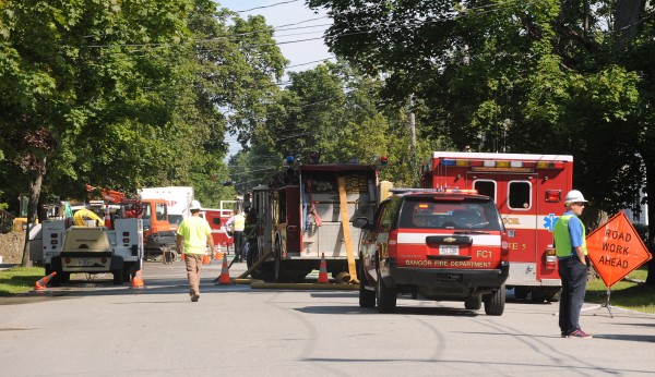 Several homes were evacuated on Fern Street in Bangor due to a gas leak Friday morning.