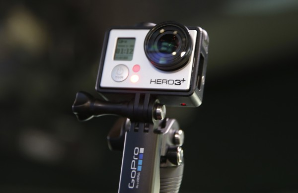 A GoPro Hero 3+ camera is seen at the Nasdaq Market Site before before GoPro Inc.'s IPO on June 26 in New York City.