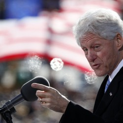 Bill Clinton stumps for Mike Michaud in Portland