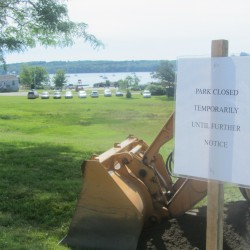 Sinkholes combine with E. coli — suspected from dog poop — to force closure of Rockland waterfront park