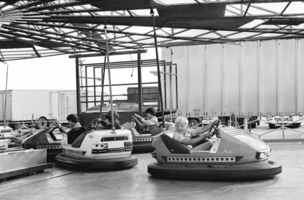 Bumper cars from the Bangor State Fair in 1977