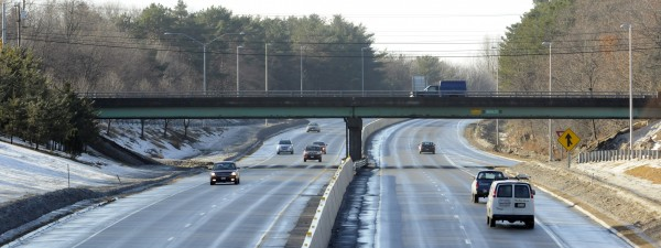 The Union Street bridge over Interstate 95 in Bangor as seen on Jan. 15, 2014.