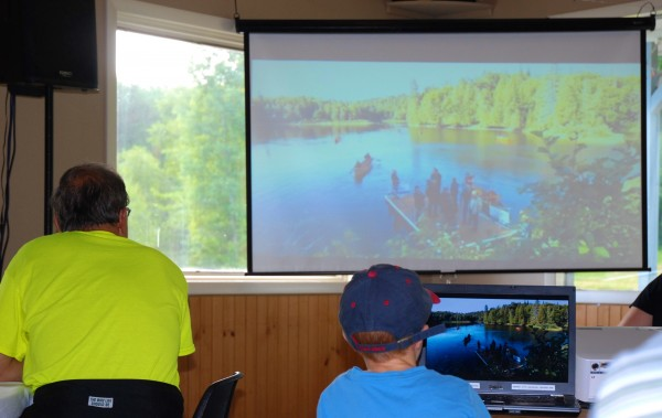 The opening ceremony for the 2014 World Acadian Congress was live streamed from the shores of Beau Lake in Quebec. Dignitaries representing the host regions of Maine, Quebec and New Brunswick joined with representatives of the First Nations in a ceremonial erasing of the borders.