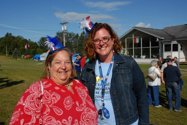 &quotWe do Mardi Gras, we know how to dress up,&quot Mary Dufresne (left) of New Orleans, said after attending the opening breakfast in Fort Kent for the 2014 World Acadian Congress. Dufresne and Anita Huval of Lafayette, Louisiana, were in Fort Kent with a group of fellow educators attending an international seminar on Acadian culture.