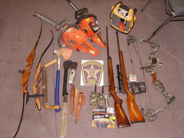 The Washington County Sheriff's Office reported this stolen property was recovered in an investigation into burglaries of four seasonal camps near Lower Oxbrook Lake, which is in a remote are north of Grand Lake Stream. Nearly all the stolen property was recovered. Two teenage boys have been identified as suspects and cooperated in the investigation.
