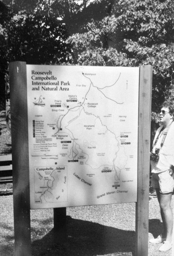 This picture of a map of the Roosevelt Campobello International Park was taken in 1986. The park is marking its 50th anniversary on Saturday.