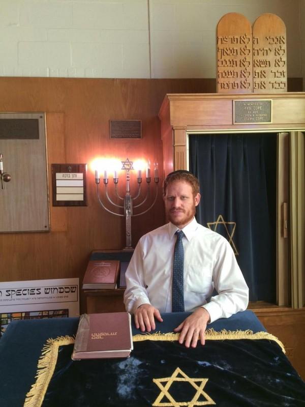 Rabbi Akiva Herzfeld at the Shaarey Tphiloh synagogue in Portland.