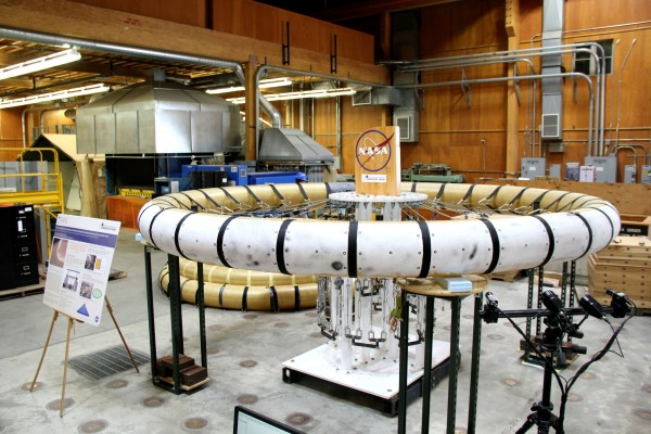 NASA has sent this torus to UMaine for testing. The torus is an inflated tube that is one piece a device that may one day be used on human-baring space missions to Mars.