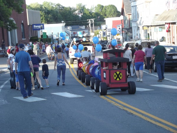The children's parade, part of the annual Machias Wild Blueberry Festival, winds through town during the 2013 event. The festival is expected to draw 10-15,000 people to Machias this weekend.