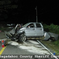 Naked driver rams into Phippsburg cruiser after low-speed chase, police say