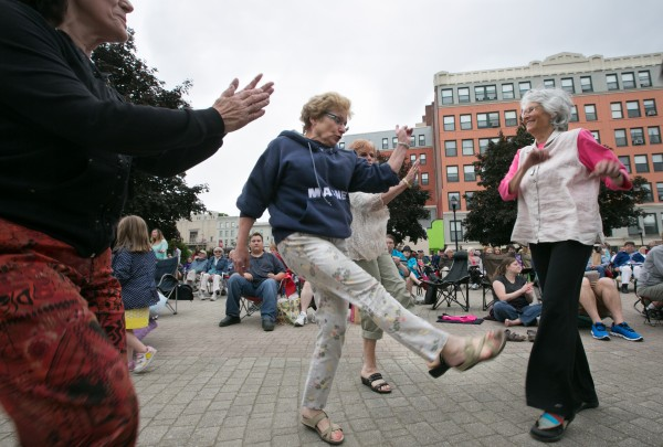 The first Fresh Air Market was held in Pickering Square in downtown Bangor on Thursday, June 6, 2013. The gathering featured local street vendors and local band Jump City Jazz.