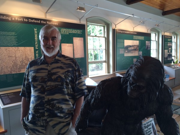 Cryptozoologist Loren Coleman, owner of the International Cryptozoology Museum in Portland, talked about Big Foot in Maine and other places, where the mythical creature is known as a Yeti or Sasquatch.