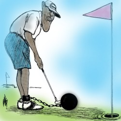 Obama plays golf while Iraq burns