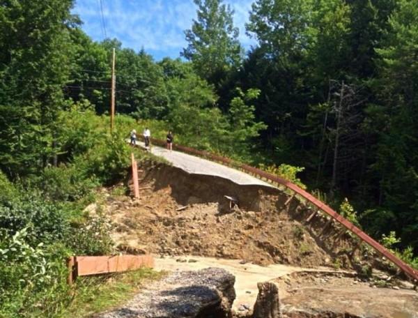 Turkey Ridge Lane in Freeport was completely washed away on Aug. 13.