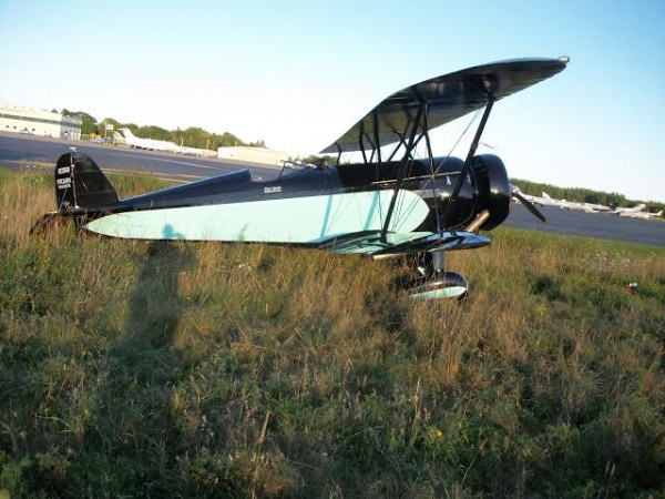 A 1930 Pitcairn airplane from the Owls Head Transportation Museum made a hard landing Saturday evening after it lost engine power.