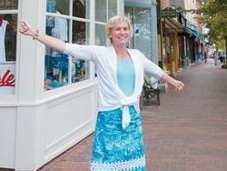 Bath City Counsilor Carolyn Lockwood, seen Monday on Front Street, will resign from her seat in order to become director of Main Street Bath.