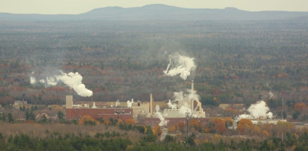 Old Town's Georgia-Pacific paper mill is seen in an aerial photo in November 2005.