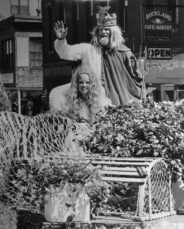 The Sea Goddess and King Neptune wave at the Maine Lobster Festival in Rockland in this 1994 file photo.