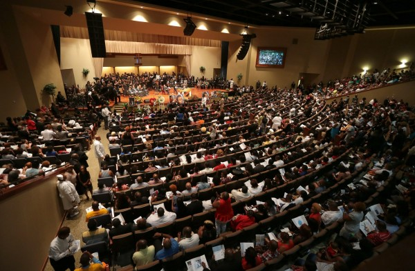 Funeral services for Michael Brown were held on Monday at Friendly Temple Missionary Baptist Church in St. Louis.