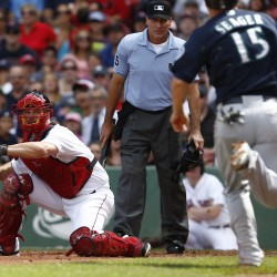 Napoli cranks grand slam in Boston's 9-6 win over A's