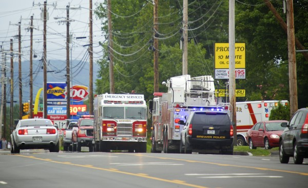 A natural gas leak in Brewer on Wednesday closed down parts of Wilson Street.