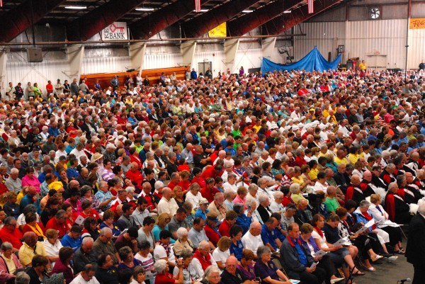 A crowd estimated at more than 4,000 attended the Acadian Mass in Madawaska on Friday.