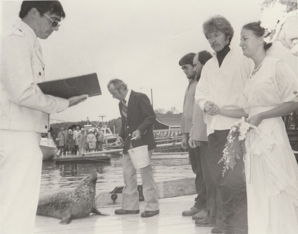 Andre the Seal was part of the wedding party when Toni Goodridge got married in 1980.