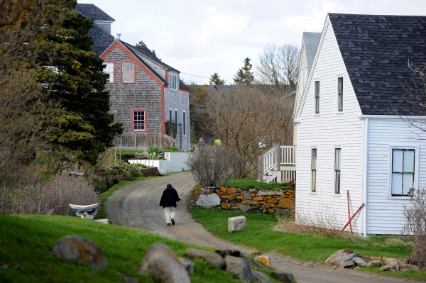 Monhegan Island is home to about 69 year-round residents.  In the summer, the 700-acre island's population rises to about 250.
