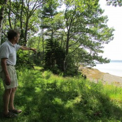 Roger Berle of Friends of Clapboard Island is an advocate for the Maine Coast Heritage Trust to purchase the acres that make up the island's northeast portion off Falmouth.