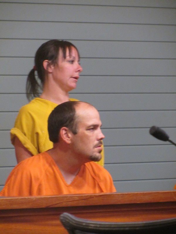 Stephanie L. Dodge, 29, of Thomaston and Troy E. Weaver, 33, of Warren pleaded guilty Friday in Rockland District Court to criminal trespass for refusing to leave the property of a church.