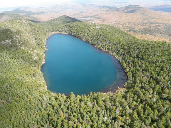 Crater Pond, near Brownville Junction, is one of the remote Maine lakes that has its water quality sampled periodically by research scientists.