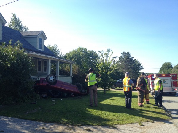 Single-car accident near Hackett Road in Winterport