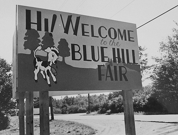 The Welcome to the Blue Hill Fair sign is shown in a file photo