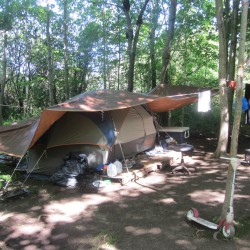 Couple arrested after allegedly refusing to leave Rockland tent site where they were living with three children