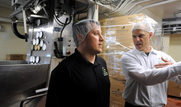 J.C. Gifford (left), vice president of sales, and Ryan Porter, plant supervisor, are among the new generation of Gifford family members who are taking over the leadership positions at the Skowhegan-based Gifford's Famous Ice Cream company.